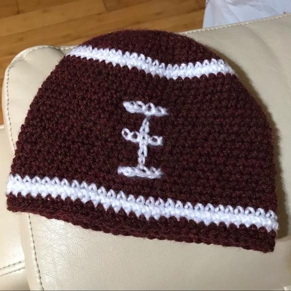 Accessories Hand Crochet Football Hat Poshmark